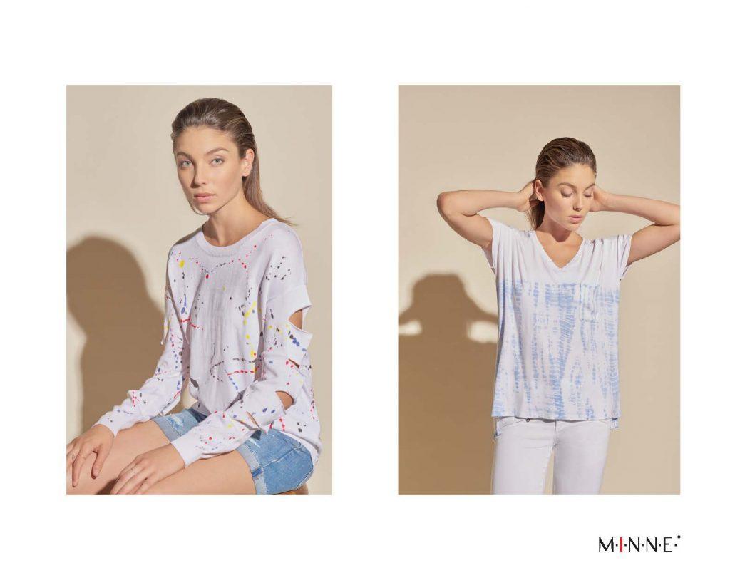 m-i-n-n-e-spring-18-lookbook-splatter print slash sleeve top and border dyed v-neck