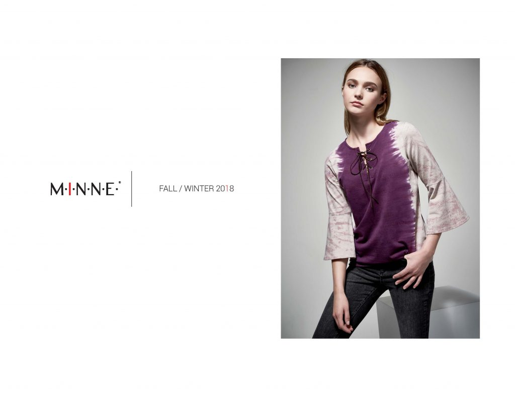 MINNE Lookbook Vertical Dye Bell Sleeve Top