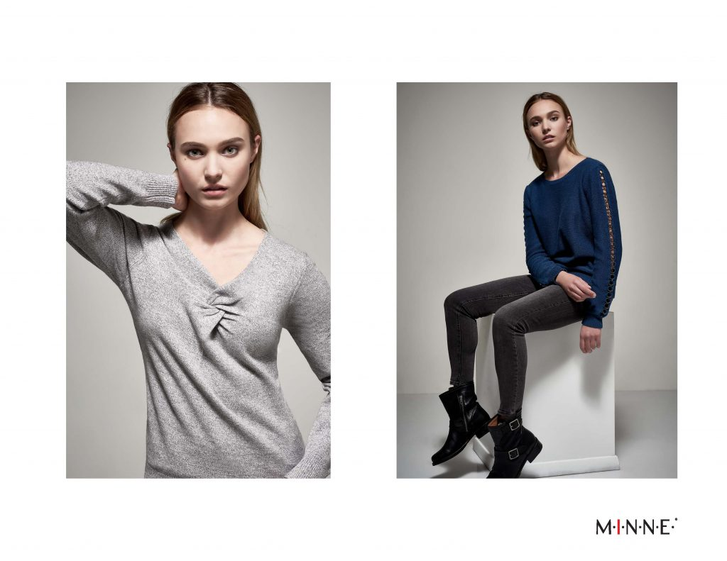 MINNE Fall 2018 Lookbook Twist front top and grommet sleeve top