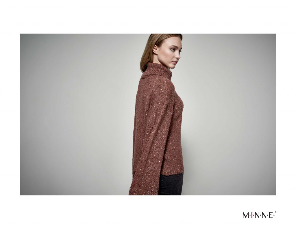 MINNE Fall 2018 Lookbook wide sleeve sequin sweater